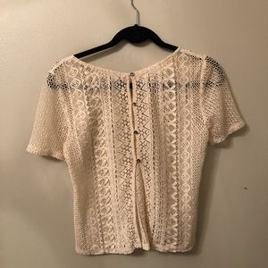 Tan short sleeve top from American Eagle